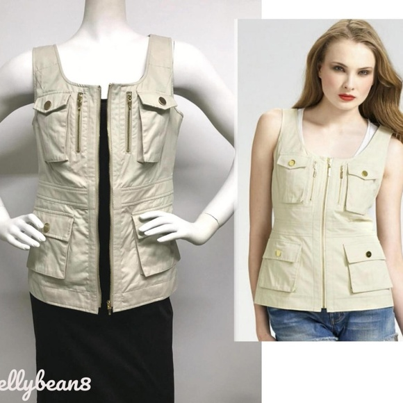 Tory Burch Jackets & Blazers - TORY BURCH Jason Cargo Utility Vest Jacket Top 8 M